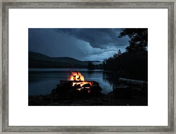 On The Lake Framed Print