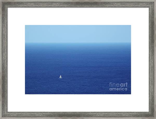 On The Mediterranean Framed Print