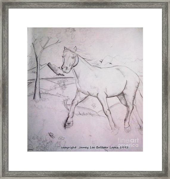 On The Ridge Sketch Framed Print by Jamey Balester