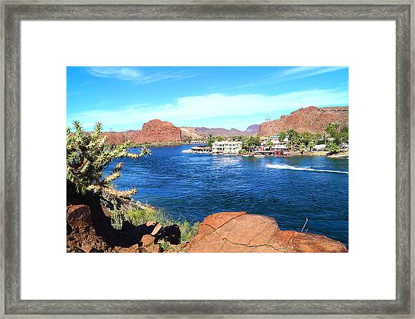 On The Rivers Edge Framed Print