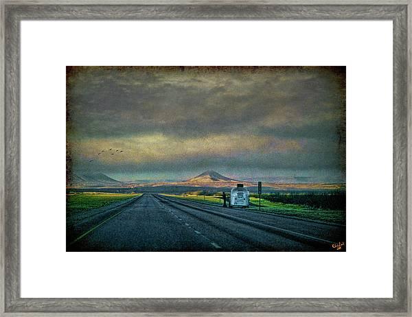 On The Road Again Framed Print