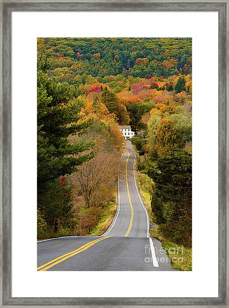 On The Road To New Paltz Framed Print