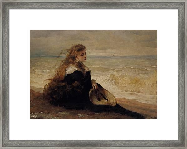 On The Seashore Framed Print
