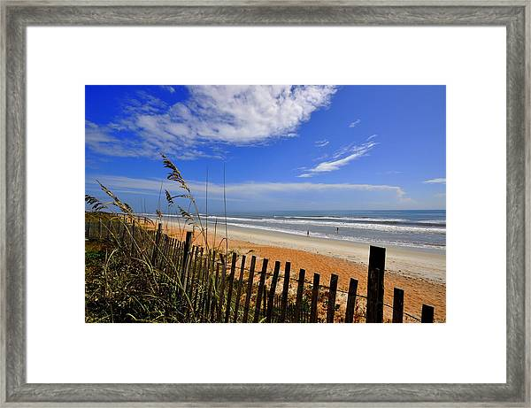 On The Side Of High Tides Framed Print