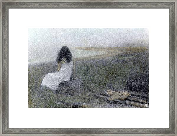 On The Vineyard Framed Print
