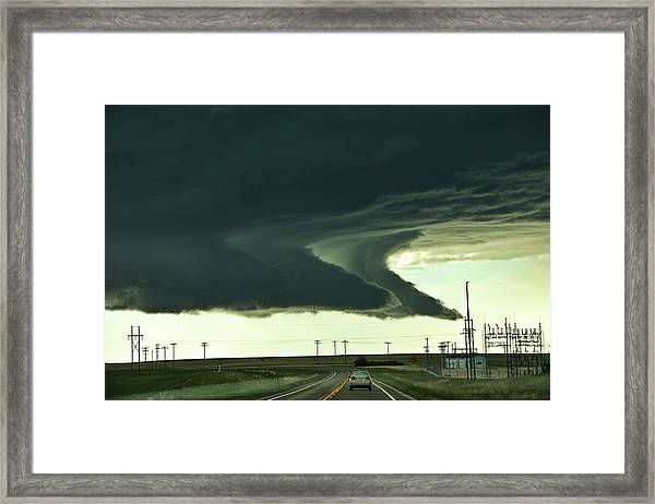 On The Way To The Akron Co Beast Framed Print