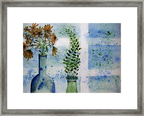 On The Windowledge Framed Print