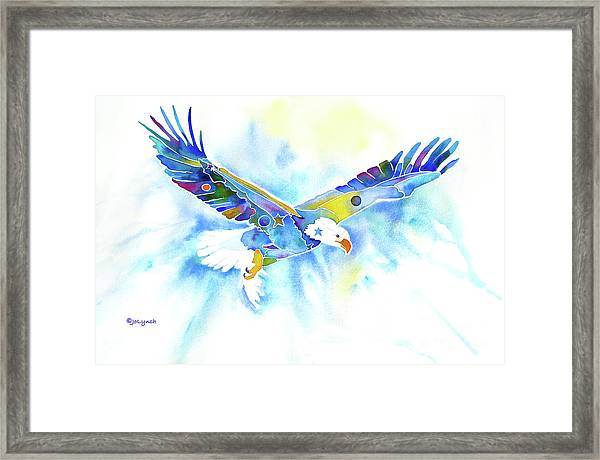 On The Wings Of An Eagle Framed Print