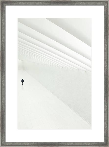 On White Framed Print