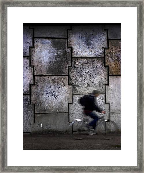 On Your Bike. Framed Print