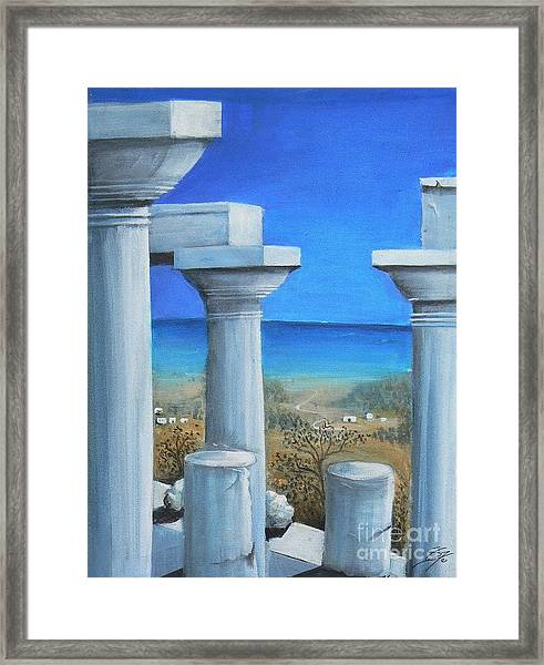Once Upon A Time In Greece Framed Print