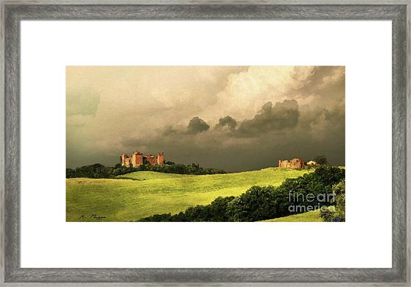 Framed Print featuring the mixed media Once Upon A Time In Tuscany by Rosario Piazza