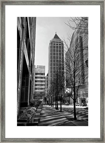 One Atlantic Center In Black And White Framed Print