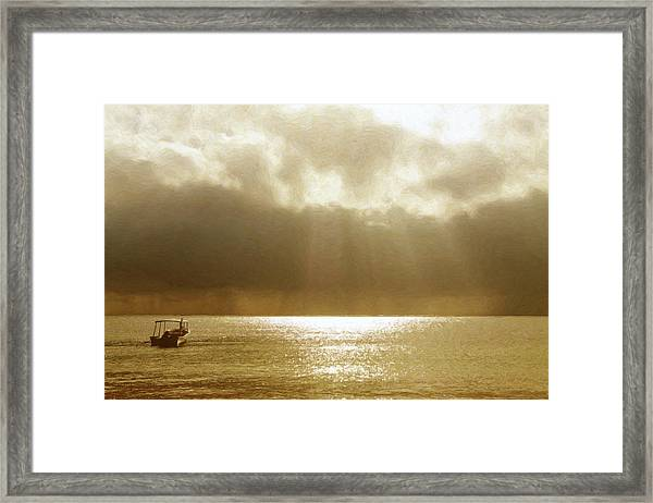 One Boat Framed Print