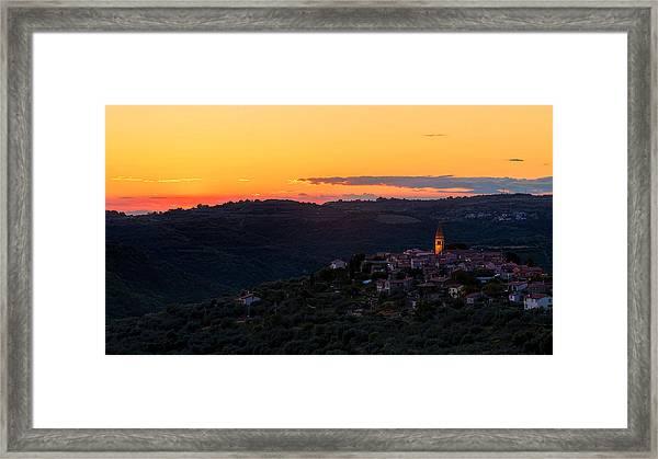 One Evening In September Framed Print