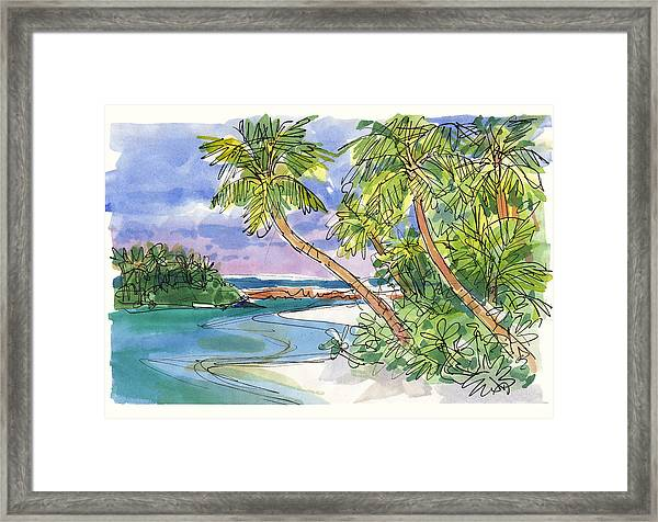One-foot-island, Aitutaki Framed Print