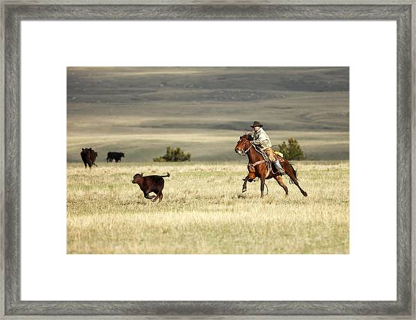 One Got Away Framed Print