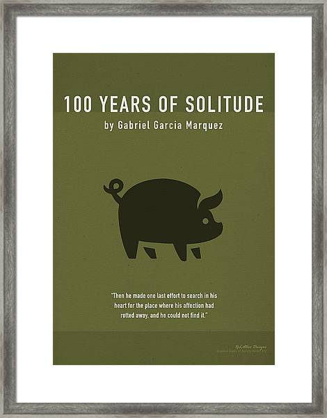 One Hundred Years Of Solitude Greatest Books Ever Series 012 Framed Print