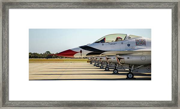One Jet Or Seven Framed Print