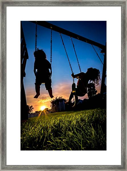 One Last Swing Framed Print