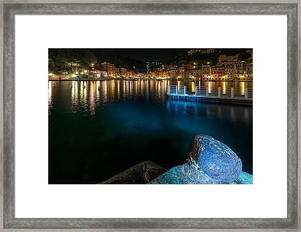 One Night In Portofino - Una Notte A Portofino Framed Print