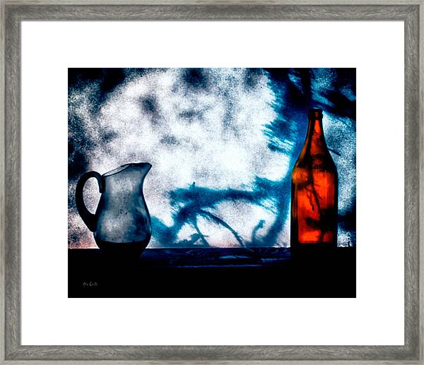 One Red Bottle Framed Print