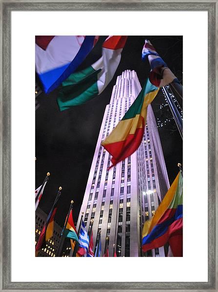 One Rockefeller Center Framed Print by Jacqueline M Lewis