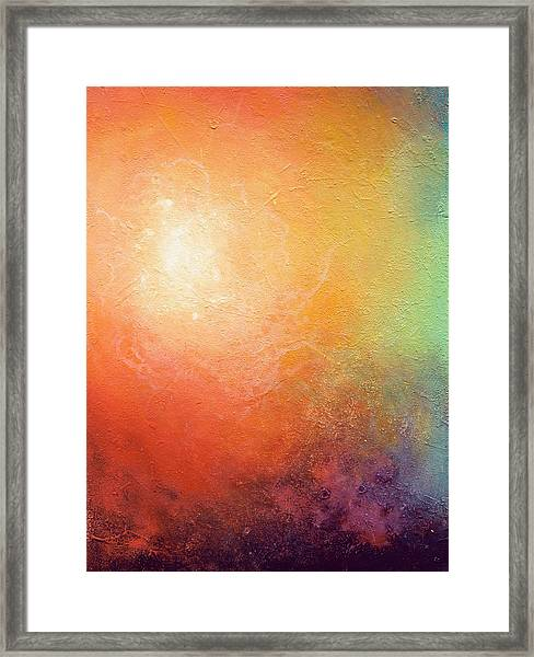 One Verse - Triptych 2 Of 3 Framed Print