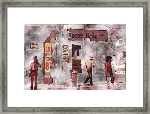 One Way Framed Print