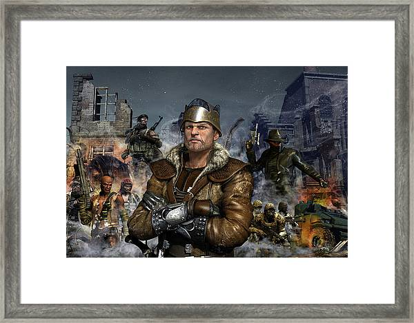 One World One King Framed Print