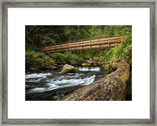 Oneonta Creek Crossing Framed Print
