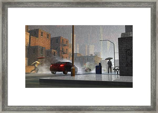 Only When It Rains Framed Print