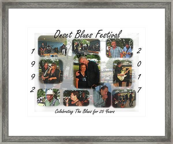 Onset Celebrates 25 Years Of Blues Framed Print