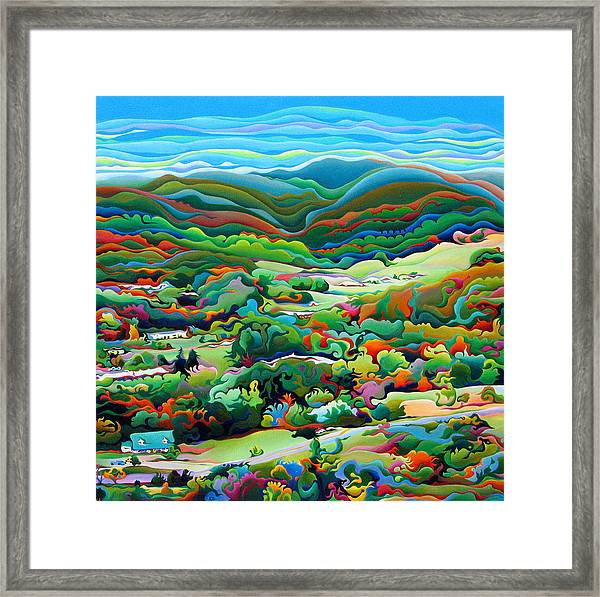 Onset Of The Appalachian Wonderfall Framed Print