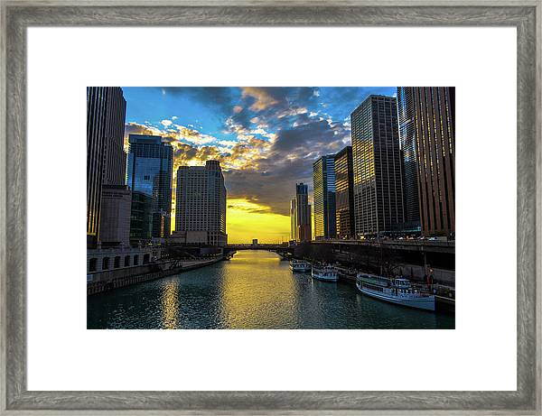 Onto The Lake Framed Print