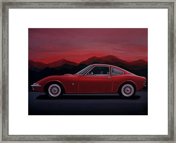 Opel Gt 1969 Painting Framed Print