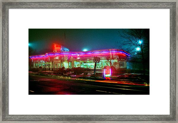 Open All Night Framed Print