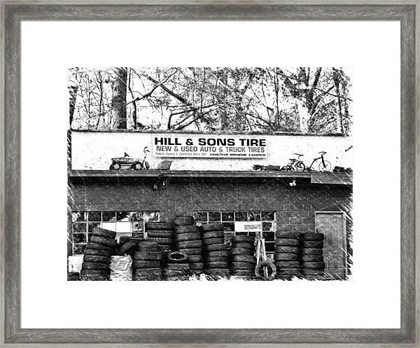 Open For Business Framed Print