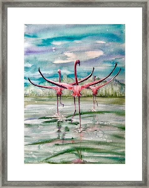 Framed Print featuring the painting Open Horizon by Katerina Kovatcheva