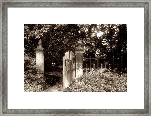 Open Invitation Framed Print