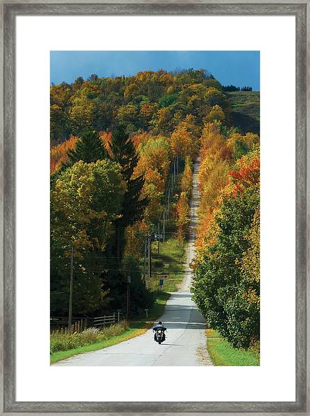 Open Road Rider Framed Print