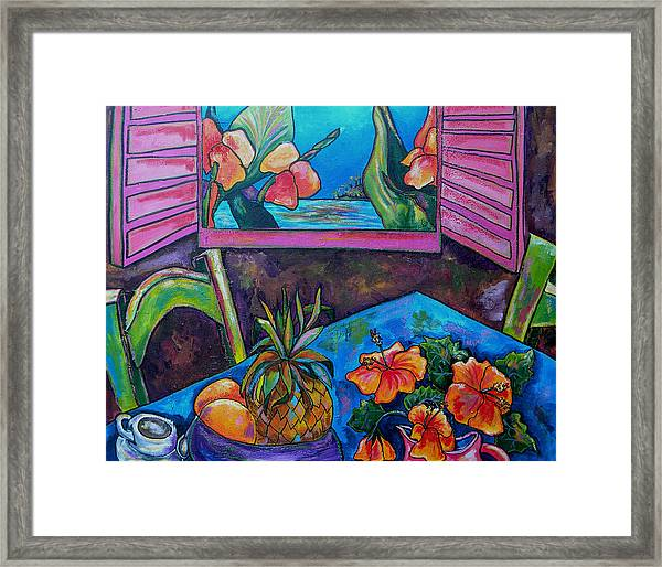 Open Window Framed Print