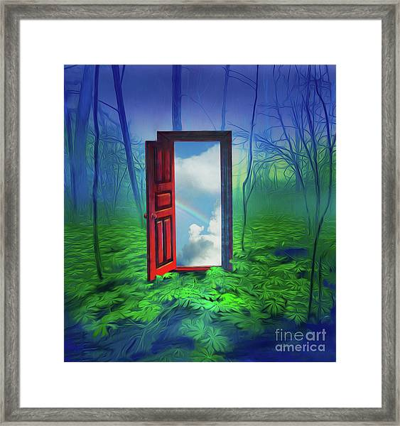 Opening Doors Framed Print
