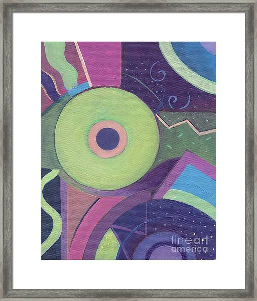 Openly Green Framed Print