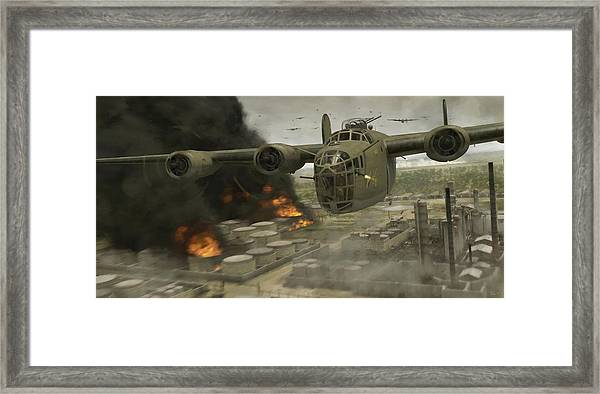 Operation Tidal Wave Head-on View - Painterly Framed Print