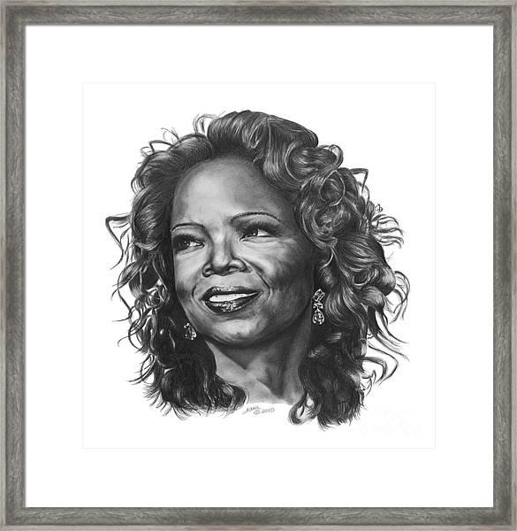 Oprah Framed Print