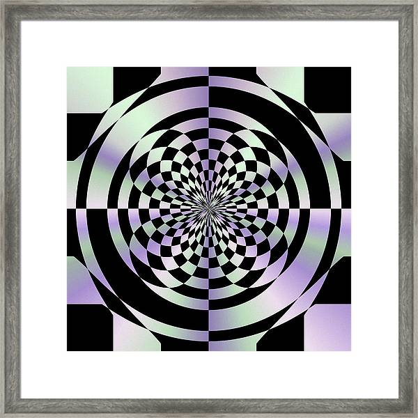 Optical Checkerboard Framed Print