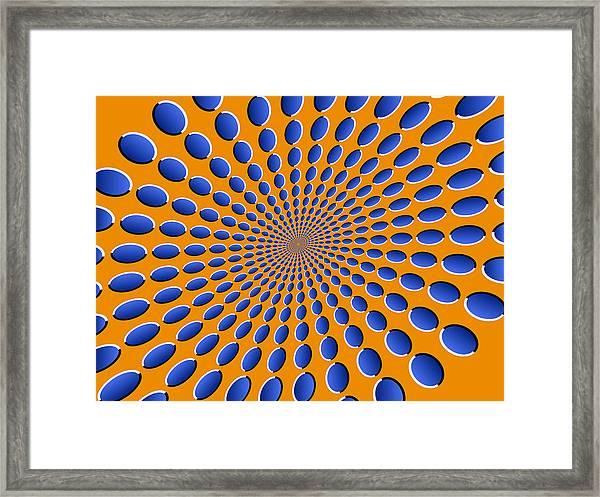 Optical Illusion Pods Framed Print