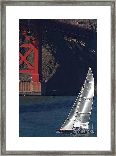Oracle Racing Team Usa 76 International America's Cup Sailboat . 7d8071 Framed Print