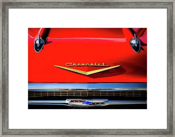 Orange '57 Chevy Framed Print